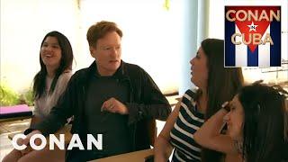Conan Takes A Cuban Spanish Lesson - CONAN on TBS