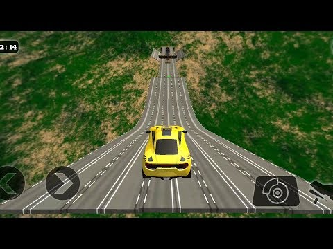 Impossible Stunt Car Tracks 3D Taxi Edition All Levels 3 Stars - Android GamePlay 2019