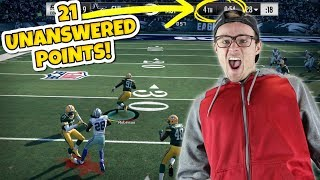21 UNANSWERED POINTS WITH ONLY 1 MINUTE LEFT?? (Down By 14!) Madden 18 RTE