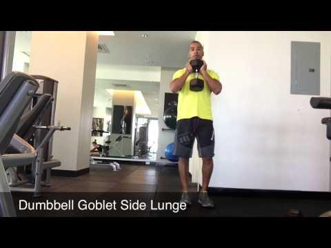 Tantras Urbanos: Dumbbell Goblet Side Lunge