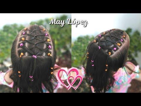 Peinado Facil Y Bonito Con Ligas Para Ninas Peinados Para La Escuela
