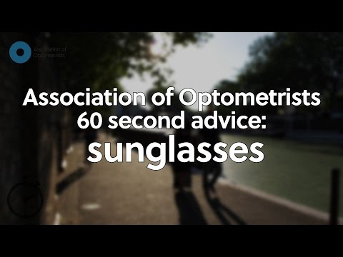 60 second advice: sunglasses