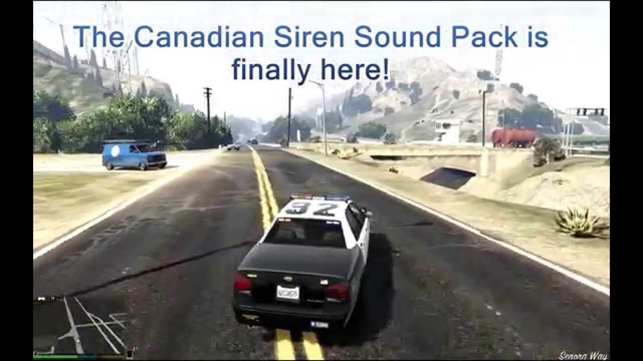 Canadian Siren Sound Mod Gta5 Modscom Change Whelen Tones