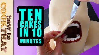 10 Amazing Cakes & Desserts in 10 Minutes Compilation by How To Cook That, Ann Reardon