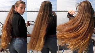 RealRapunzels   Healthy Long Brown Hair And A Beautiful View (preview)