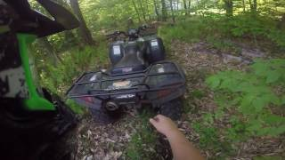 Blowing up MY DADS 4-wheeler