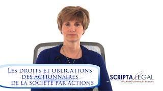 Les droits et obligations des actionnaires de la société par actions