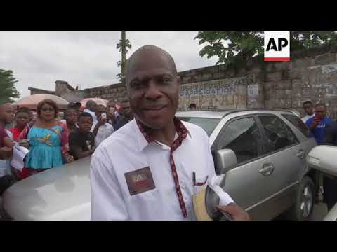 Fayulu at church after requesting DRC election recount