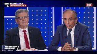 Débat Mélenchon VS Zemmour - Le replay
