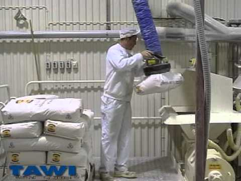 VacuEasylift sack lifter used in chocolate industry from TAWI