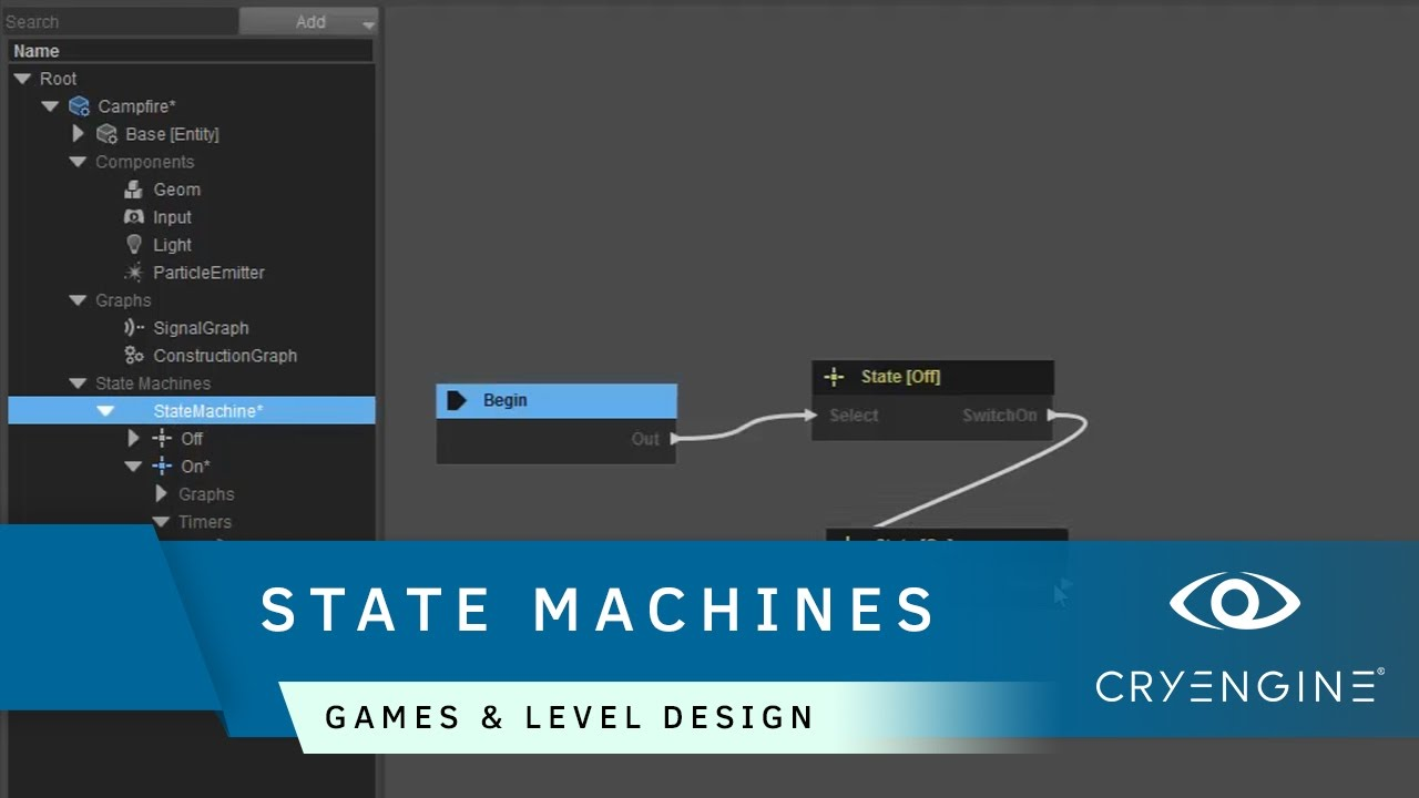 How to use state machines in Schematyc | Game & Level Design