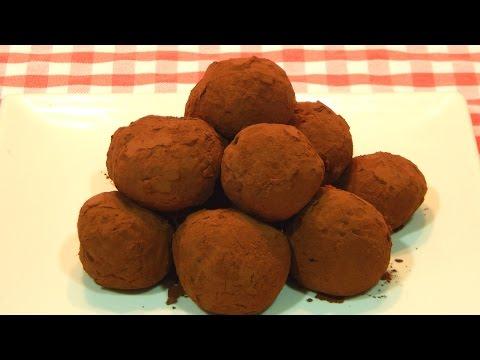 Cómo hacer trufas de chocolate receta fácil