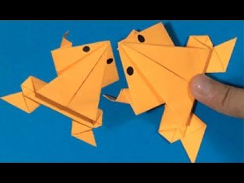 Cách xếp con ếch bằng giấy nhảy xa và cao nhất