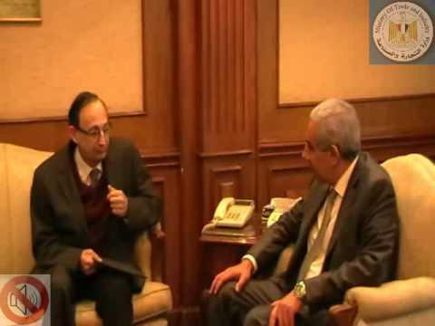لقاء الوزير/طارق قابيل مع سفير كرواتيا بالقاهرة