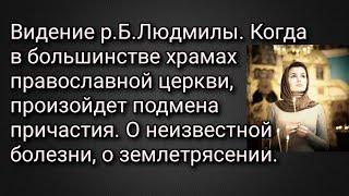 Видение р.Б.Людмилы. Когда в большинстве храмах православной церкви произойдет подмена причастия.