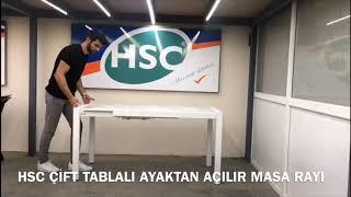 HSC AYAKTAN AÇILIR MASA RAYI (ÇİFT TABLA)