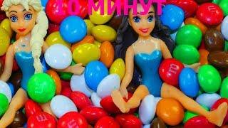 Учим цвета Сборник Куклы Принцессы Диснея Много Конфет Ммдемс M&M's Развивающая песня Семья Пальчики