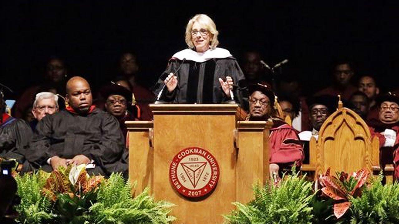 Betsy DeVos Booed At Graduation Ceremony (VIDEO) thumbnail