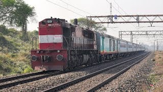 High-speed Diesel Train- Shatabdi Express NJP to HWH powered by 11317 WDM 3D Loco of Indian Railways
