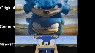 Sonic Trailer Original Vs Cartoon Vs Minecraft