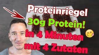 Proteinriegel low carb low fat - trotzdem lecker! in 4 Minuten