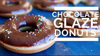 CHOCOLATE GLAZED DONUTS  | Low Fat & Vegan