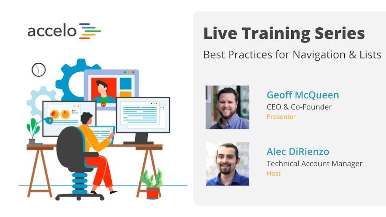 Live Training Series: Best Practices for Navigation & Lists