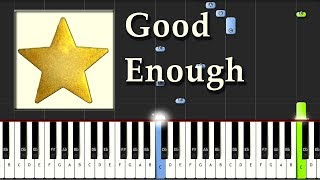 Evanescence - Good Enough - Piano Tutorial Easy Synthesia - How To Play