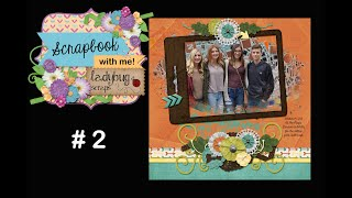 Scrap With Me #2 - Making A 12x12 Digital Scrapbook Page In Photoshop