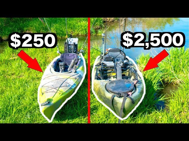 CHEAP vs EXPENSIVE Kayak Fishing Challenge!!!