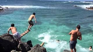 ハワイ・オアフ島超穴場スポット海に飛び込みダイブ