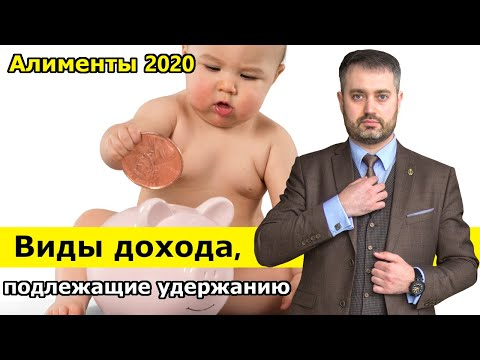 Алименты 2020. Виды дохода с которых удерживаются алименты на ребенка