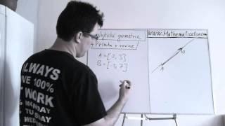 Analytická geometrie - přímka v rovině - základy - parametrické vyjádření