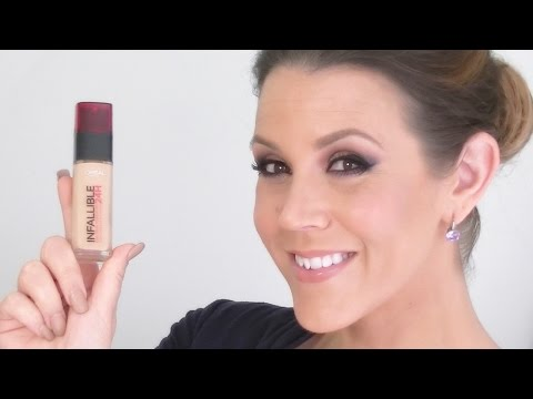 NEW L'Oreal Infallible 24H Foundation : REVIEW & DEMO