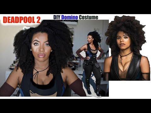 DIY Marvel Domino Costume/Transformation Deadpool 2 Tutorial Halloween