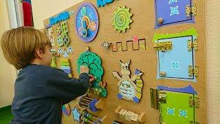 Контактный Зоопарк Прикольные Черепашки и Кролики Риша строит домик и играет в БИЗИБОРД Кадорр KIDS