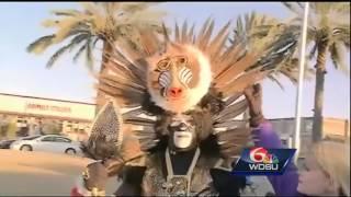 Zulu Walking Warriors show off their cosumes