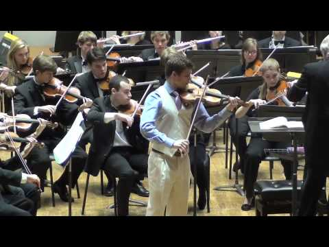 Performing a violin concerto with the University of Wisconsin-Madison Symphony Orchestra