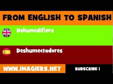 ESPAÑOL = INGLÉS = Deshumectadores