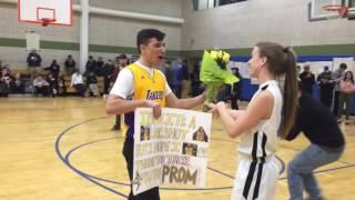 Basketball player gets 'Promposal'