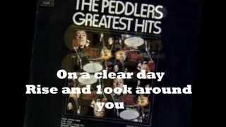 THE PEDDLERS - ON A CLEAR DAY YOU CAN SEE FOREVER ( LYRICS ) VINYL