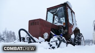 Turbo-tractor against SUVs in deep snow! (Part 9)