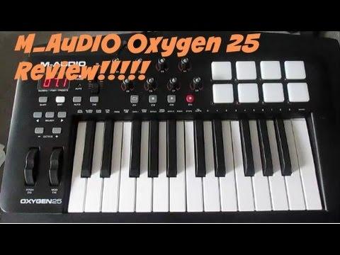 M Audio Oxygen 25 MIDI keyboard Review!!!!