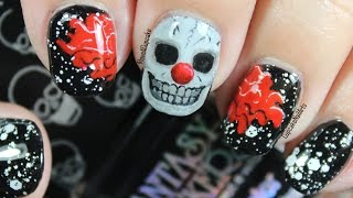 Halloween Nails - Halloween Nail Art *Creepy Skull Clown*