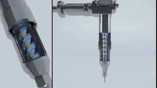 ViscoTec 3D Funktionsprinzip Exzenterschneckenpumpe (Endloskolben-Prinzip)