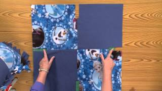 Disneys Frozen No-Sew Fleece Blanket Tutorial – Fons & Porter Exclusive