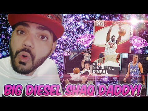 42e602bdadb5 Pink Diamond SHAQUILLE ONEAL 20th ANNIVERSARY PACK OPENING! THE DIESEL Has  ARRIVED to Nba 2k19