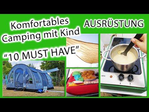 10 MUST HAVES | Ausrüstung | Komfortables Camping mit Kind | Glamping mit Zelt