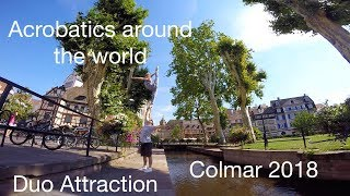 preview picture of video 'Acrobatic Hand to hand Duo Attraction in Colmar, France 2018'