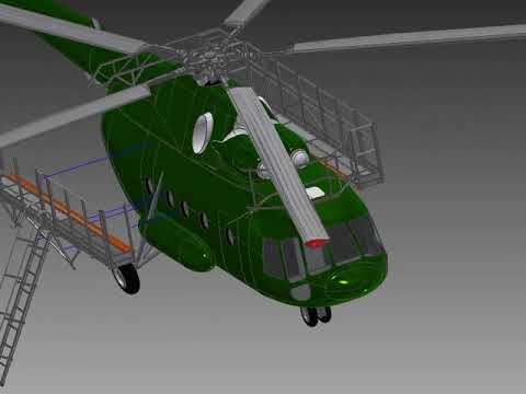 Подвесные площадки для обслуживания вертолётов типа МИ-8